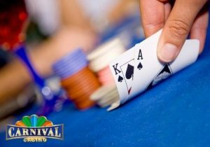 There are separate areas for playing games like roulette and poker
